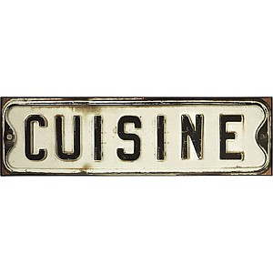 Tin Sign Cuisine
