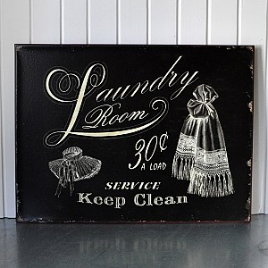 Tin Sign Laundry