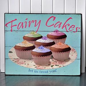 Plåtskylt Fairy Cakes