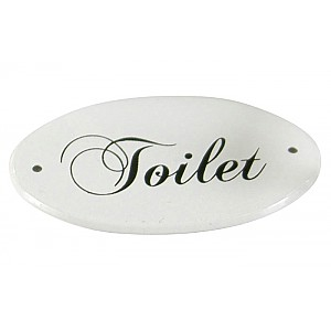Enamel Sign Toilet