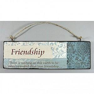Wooden Sign Friendship