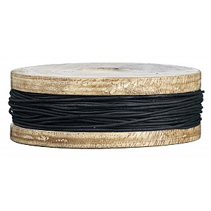 Leather Cord Black - 1 mm