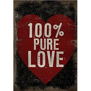 Canvastavla 100% Pure Love
