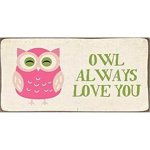Magnet / Kylskåpsmagnet Owl always love you