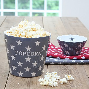Popcorn-Schüssel-Stern