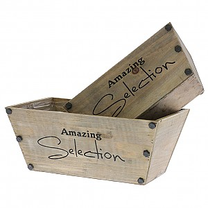 Wooden boxes Selection