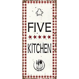 Plåtskylt Five Star Kitchen