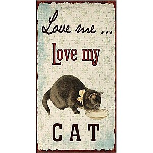 Tin Sign Love my cat