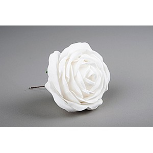 Decor Rose White 10 cm