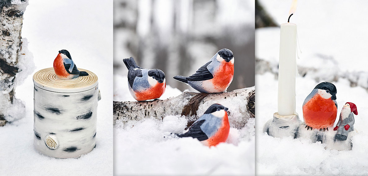 Bullfinches and other nice Christmas decorations from Cult Design.