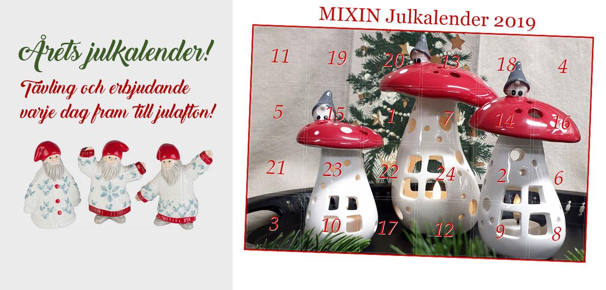 Mixin Julkalender 2019 - Tävling och erbjudande varje dag fram till julafton